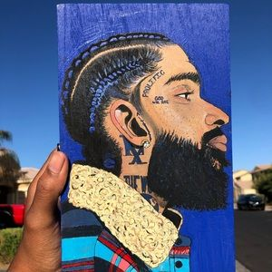 NIPSEY HUSTLE HAND PAINTED BOX 🎨